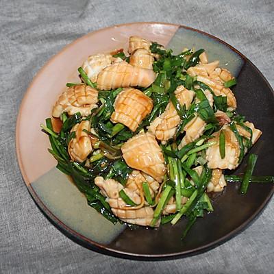 轻松做海鲜—韭菜炒鱿鱼