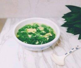 秋冬的时候最好喝的汤—野荠菜蛋花豆腐衣汤的做法