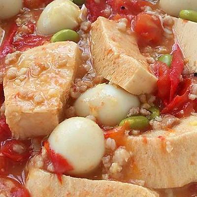 西红柿肉末炖豆腐(豪华版)