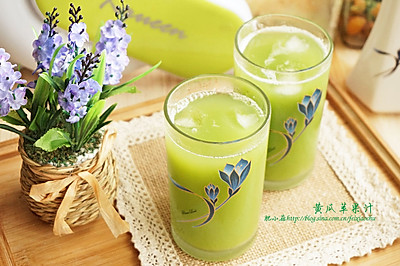 夏日清爽果蔬,黄瓜苹果汁