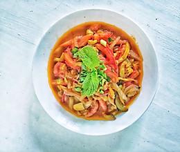 #花10分钟,做一道菜!#西红柿素三鲜的做法