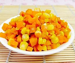 素食主义:玉米炒红萝卜的做法