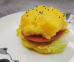 鹅肝土豆泥汉堡的做法