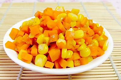 素食主义:玉米炒红萝卜