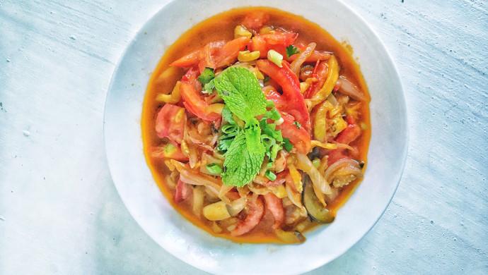 #花10分钟,做一道菜!#西红柿素三鲜