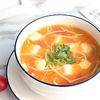 暖心暖胃【茄汁金针菇豆腐汤】的做法图解11
