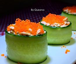 金枪鱼黄瓜寿司的做法