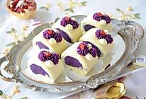 #橄榄中国味 感恩添美味#好吃不胖的紫薯蛋糕卷的做法