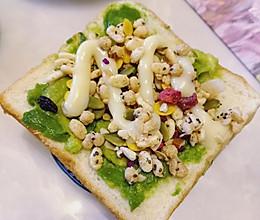 快手减脂吐司三明治 #蚊子家的私房美食#的做法