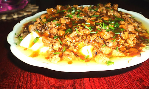 肉末香菇豆腐的做法
