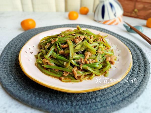爆炒豆豉芸豆肉丝的做法