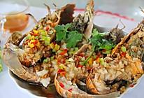 金蒜虾姑排的做法