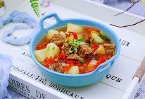 #春天肉菜这样吃#番茄牛肉炖土豆的做法