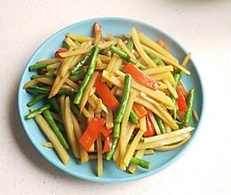减脂素菜~土豆炒豇豆的做法