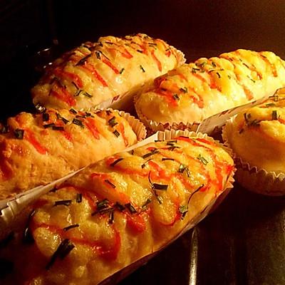 之香葱芝士面包