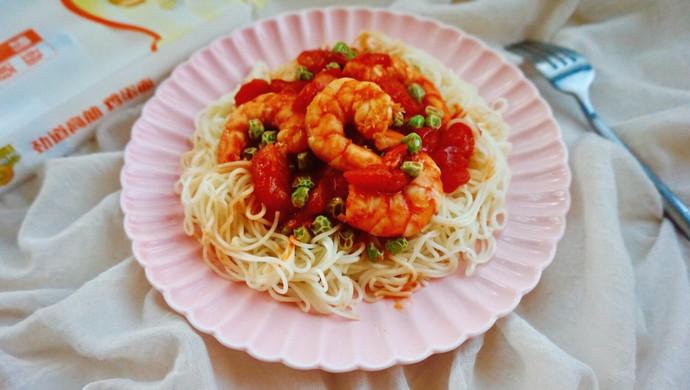 【新品】番茄鲜虾拌面