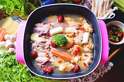 客家猪肚鸡火锅#利仁火锅节#