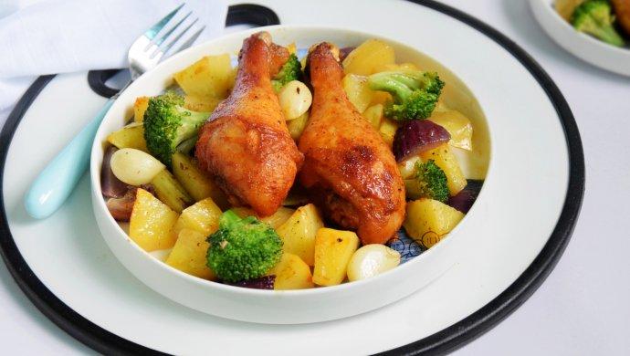 土豆烤鸡腿