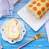 #秋天怎么吃#波点蜜桃蛋糕卷的做法图解23