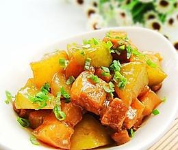 萝卜烧肉的做法