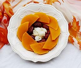 美食丨红枣百合蒸南瓜 美颜润燥的做法