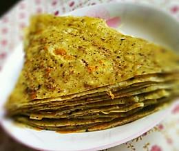 核桃芝麻鸡蛋早餐饼的做法