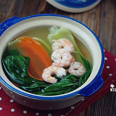 青菜虾仁汤