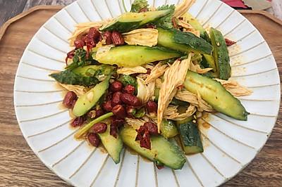 家常涼拌黃瓜腐竹