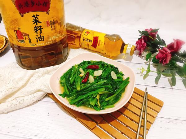蒜片油麦菜的做法