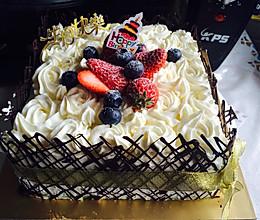 8寸生日蛋糕(方形)的做法