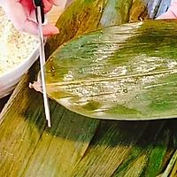 #甜粽VS咸粽,你是哪一党?大黄米粽子 (圆锥粽包法视频)的做法图解2