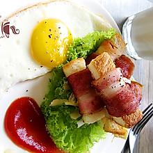 培根吐司卷煎蛋