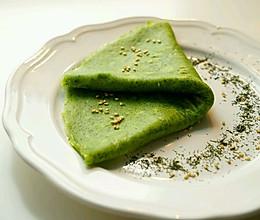 菠菜煎饼-无油健康版-的做法