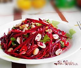 胡萝卜甜菜根沙拉的做法