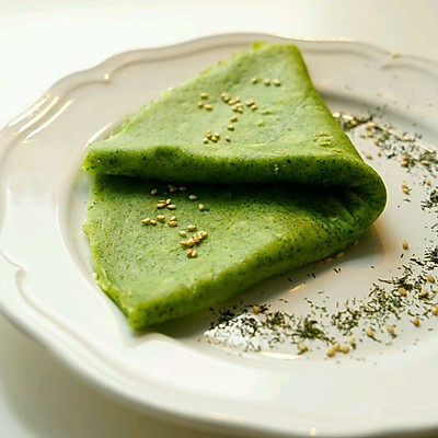 菠菜煎饼-无油健康版-