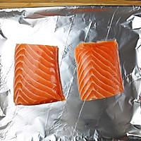 原味香烤三文鱼#美的烤箱菜谱#的做法图解2