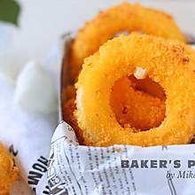 #巨下饭的家常菜#金黄酥脆,会爆浆洋葱圈