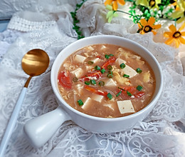 #我们约饭吧#酸辣豆腐汤的做法