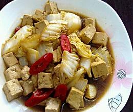 酱油白菜炖豆腐的做法