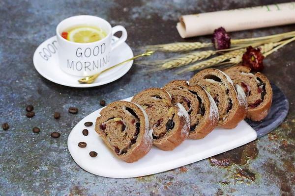 咖啡可可麻薯软欧包的做法