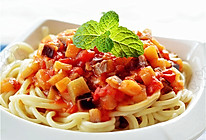 西红柿茄子拌面的做法