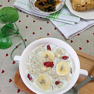 香蕉燕麦牛奶粥