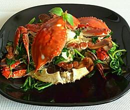 罗勒炒海蟹的做法