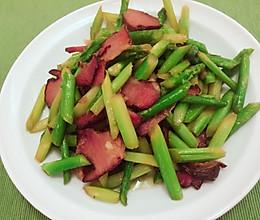 芦笋腊肉的做法