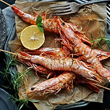 普罗旺斯迷迭香烤虾