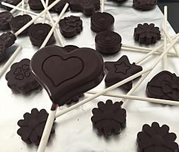 自制巧克力棒棒糖的做法
