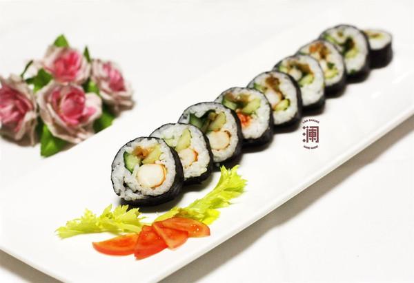南美对虾紫菜包饭  寿司卷的做法