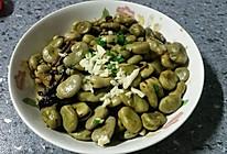 蒜香蚕豆的做法