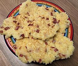 培根米饭鸡蛋饼的做法