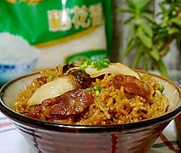 松茸香肠蒸饭#福临门创意米厨#的做法